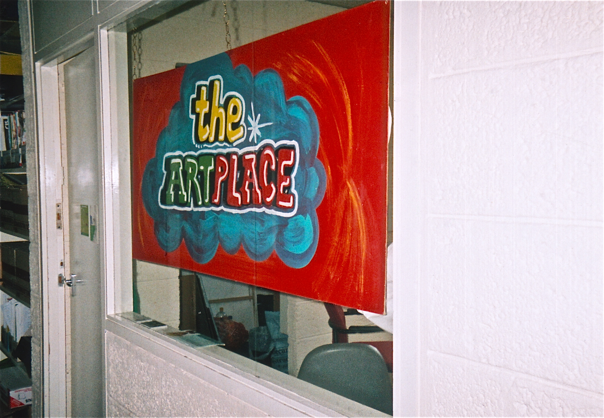 'oxfordshire youth offending service', 'the art place' sign created by a young graffiti artist